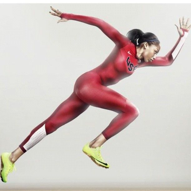 Allyson Felix. Track and field. My favorite athlete.