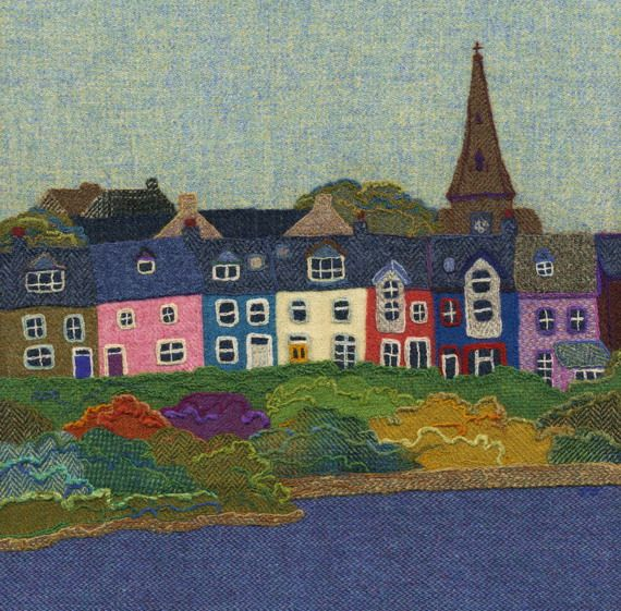 Alnmouth Pictures from Jane Jackson of Brightseed Textiles. All of these pictures are examples of Jane's work which is taken from needle-felted pictures made from Harris Tweed. They are available as giclee prints from The Chantry. Jane also sells cards and is currently selling a variety of harris tweed Christmas decorations. We also usually have one of her originals on display at a time.