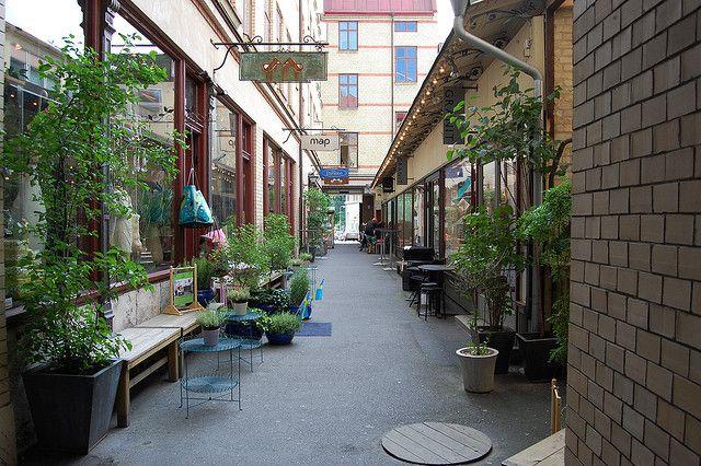 Rua Sodra Larm em Gotemburgo, Suécia.