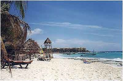 Playa Del Carmen used to be so desolate when we went.  Now too built up