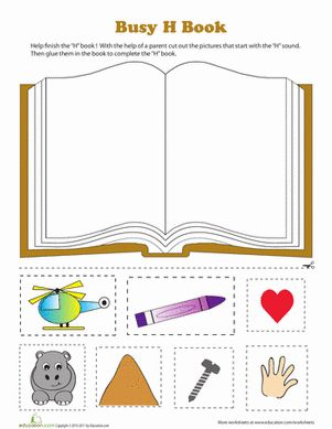 10 Best ideas about Letter H Worksheets on Pinterest | Cut and ...