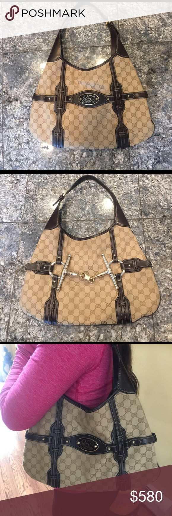 Gucci hobo bag Authentic Gucci 85th anniversary hobo bag, in Amazing condition, used once... no box or dust will send more pics upon request.. 🎉will sell via paid- pal for less comment for more into Gucci Bags Hobos