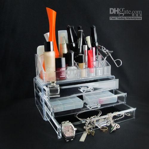 S-Clear Acrylic Cosmetic Organizer Makeup Box CaseTool Box   Buy Wholesale On Line Direct from China