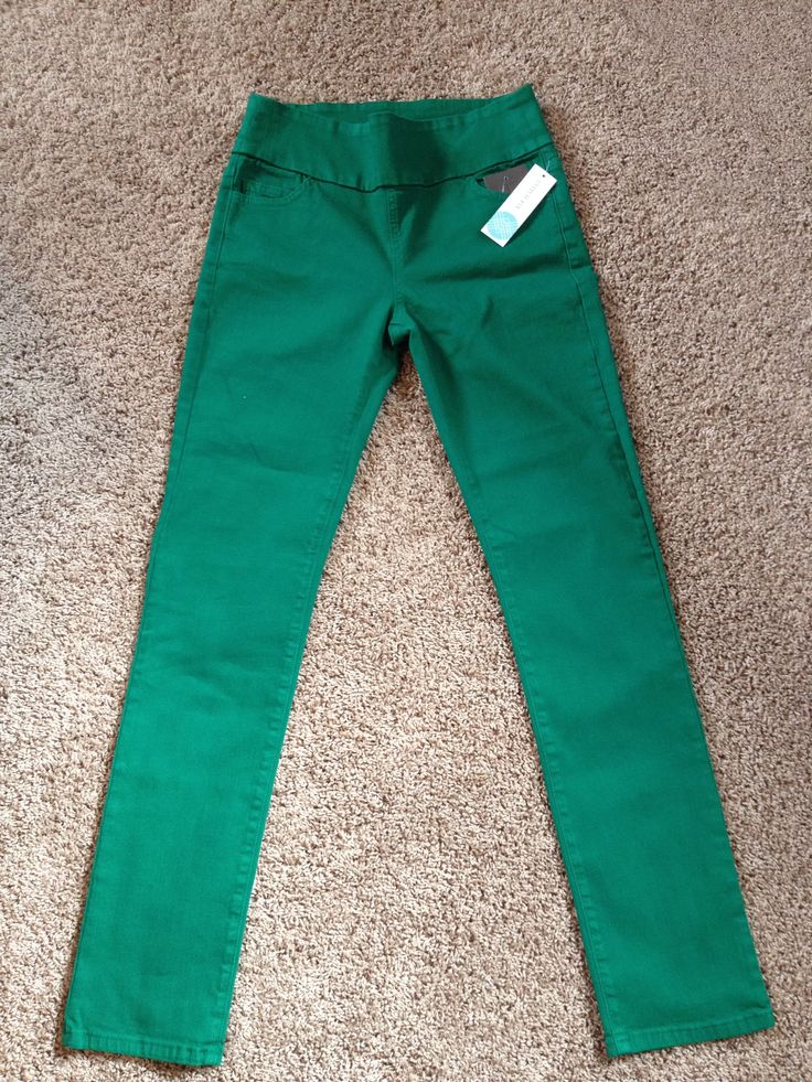 Dear SF: love these jeans! I just bought a similar style of Jag jeans and they're so comfy...love these Green Jeans. Or the other SF pinned green jeans. Margaret M Duboce Straight Leg Jean.