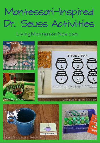Montessori Monday - Cat in the Hat Practical Life Activities