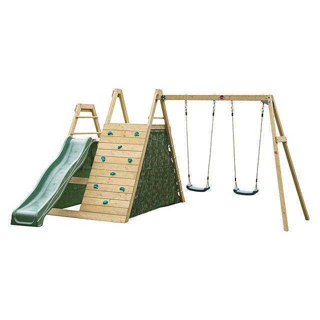 Plum Climbing Pyramid with Swings