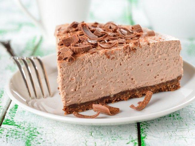 Made with graham cracker crust, soft tofu, chocolate soy milk, sugar, cocoa powder, vanilla extract | CDKitchen.com