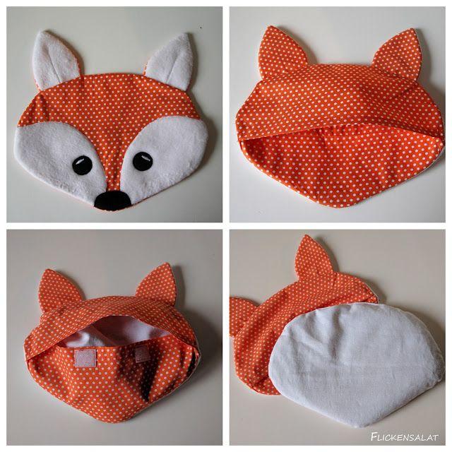Flickensalat: Ein wärmender Fuchs - Traubenkernkissen