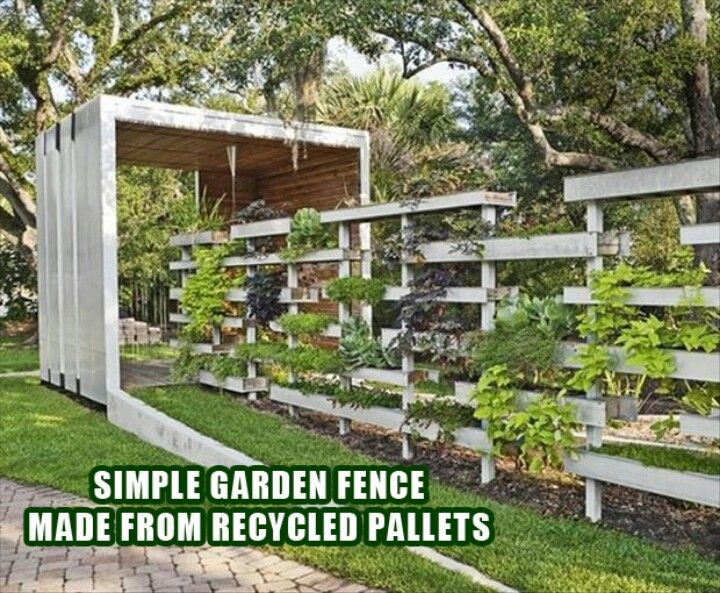 Pallet Fence Vertical Garden Garden Ideas Design