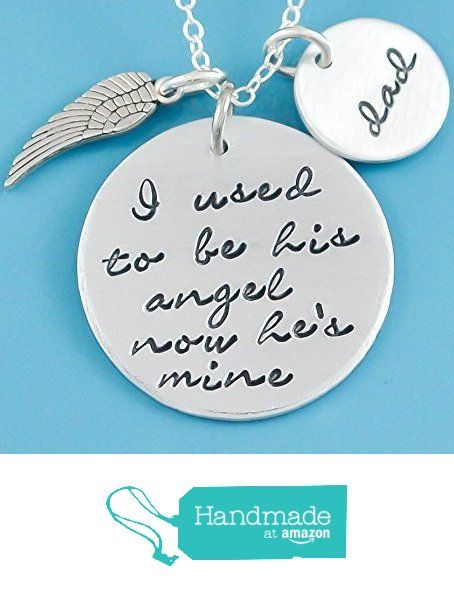 Memorial necklace - Hand stamped Necklace -Remembrance necklace - Memorial Gift - Sympathy Gift, Angel Wing - Necklace - Personalized Gift - dad from BrandedHeartJewelry http://www.amazon.com/dp/B018NHUQ82/ref=hnd_sw_r_pi_awdo_U9lywb169EDEN #handmadeatamazon