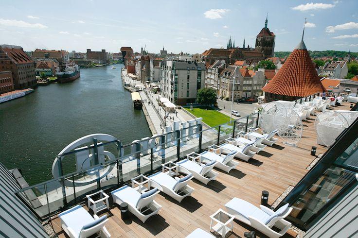 View from Hilton Hotel Gdansk, Gdansk http://www.polen.travel/sv/gdansk/