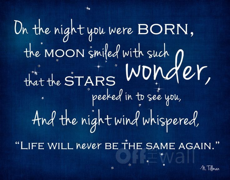 On the Night You Were Born 11x14 Fine Art Print - Perfect for Adoption or Any New Baby. $25.00, via Etsy.