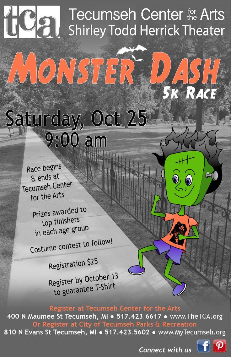 5k poster design - Saturday October 25 9 00 Am Tca S Second Annual Monster Dash 5k Race