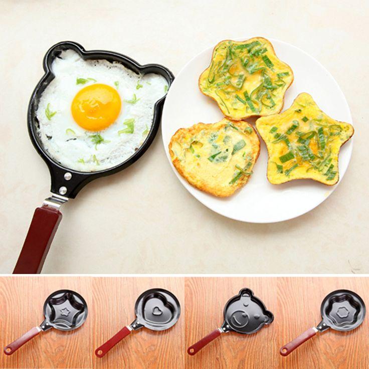 Cute Love Cartoon Mini Non-Stick Breakfast Omelette Pan Pancake Egg Fryer Skillet Fry Frying Pan Molds  Cookware V1444