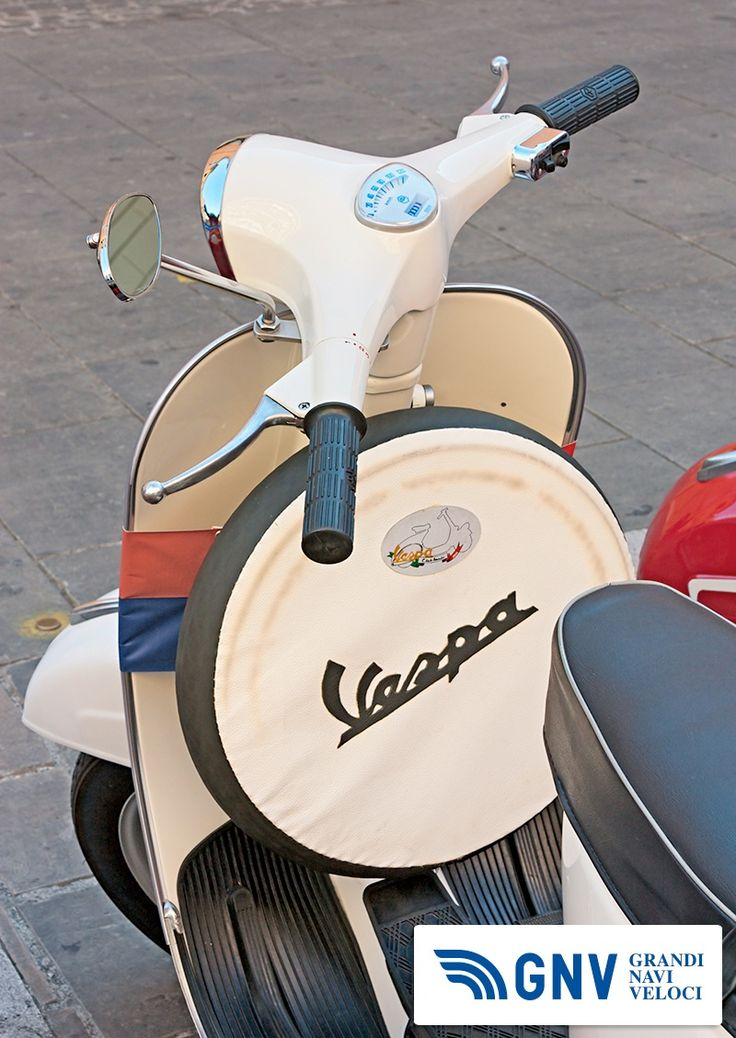"""Vintage italian scooter exposed by the Vespa club Imola at old cars and motorcycle meeting """"Luigi Musso Historic Gran Prix"""" on October 8, 2011 in Imola (PH ermess / Shutterstock.com)  Reach Italy with http://www.gnv.it/"""