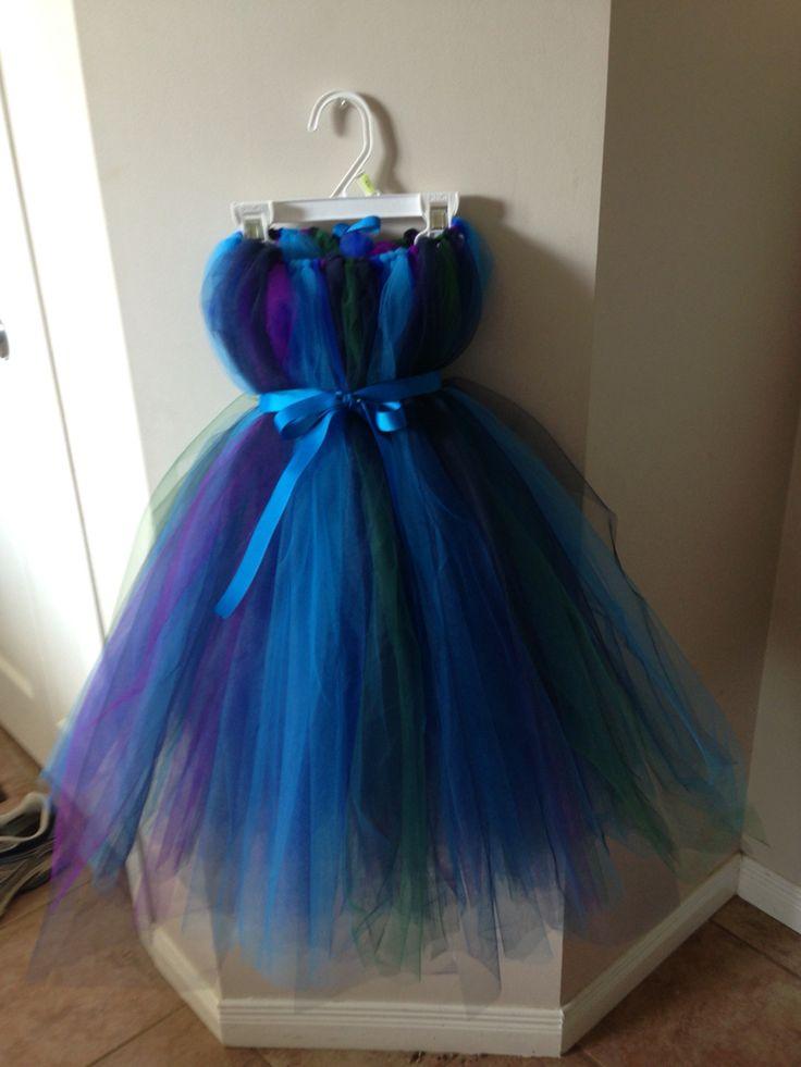 Peacock inspired tutu dress
