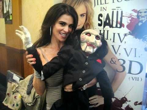 SAW HORROR MOVIE STAR BETSY RUSSELL aka JILL TUCK w/ our JIGSAW PUPPET 04-03-11