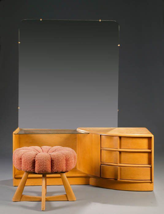 Heywood Wakefield Sculptura vanity and pouffe in Wheat - 164 Best Heywood Wakefield Furniture Images On Pinterest Wakefield