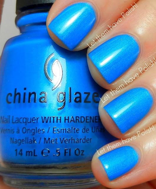 China Glaze Splish Splash: 2012 Swactch, Glaze Summer, Summer Neon, Neon 2012, Blue, Makeup, China Glaze Splish Splash, Nails Polish, Nails Galas