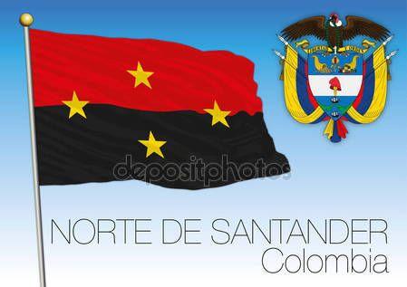 A nord di bandiera regionale di Santander, Colombia — Vettoriali  Stock © frizio #140262654