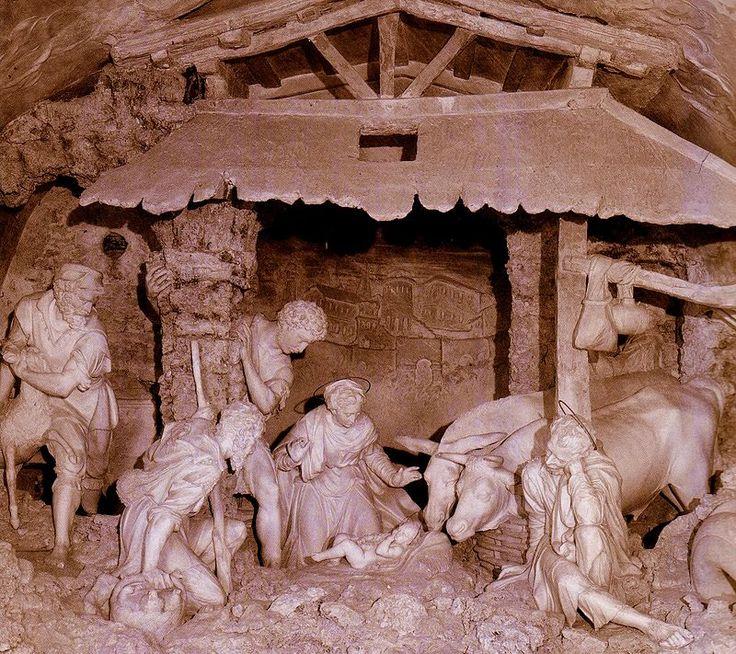Il presepio di stucco dell'Oratorio di San Giuseppe, di Urbino, opera di Federico Brandani.