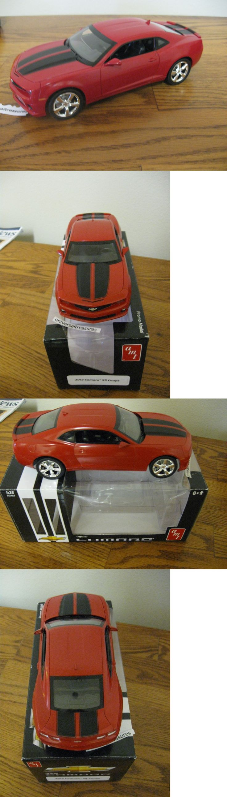 Promo 2592 official 2012 chevy camaro ss orange coupe 1 25th scale promo model