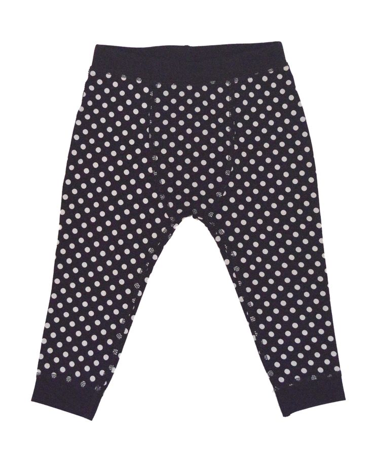 Black Dot Baby Bean Pants | Winter Baby Layette Collection | www.peekaboobeans.com