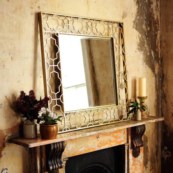 Mirror, gold, metal, fireplace, vintage, antique, period property
