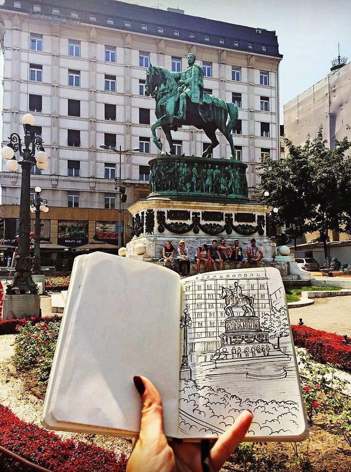"""Schizzo del """"Cavallo"""" di Belgrado [di Tulay]"""