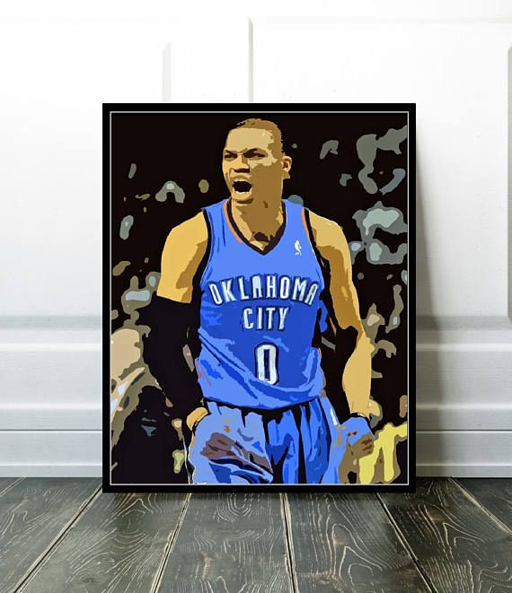 Russell Westbrook Print or Canvas OKC Basketball Fan Gift