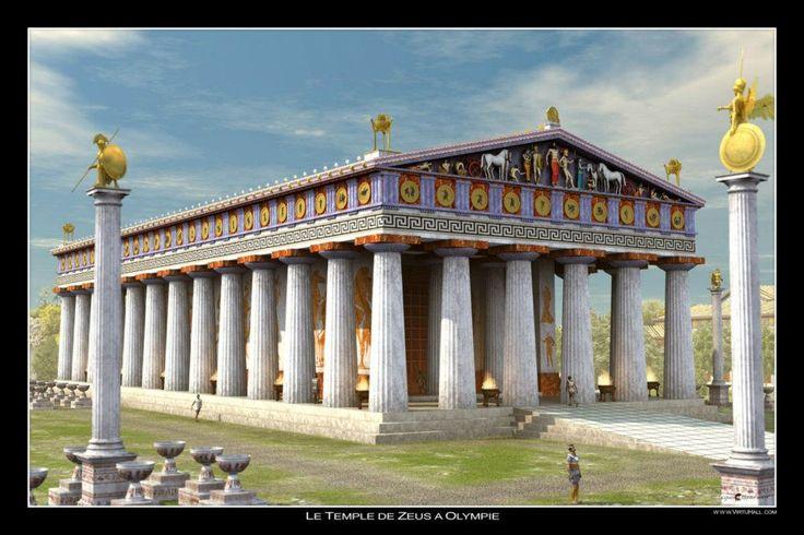 Ναός του Διός - Ολυμπία - Ψηφιακή απεικόνιση The temple of Zeus at Olympia - 3D Reconstruction