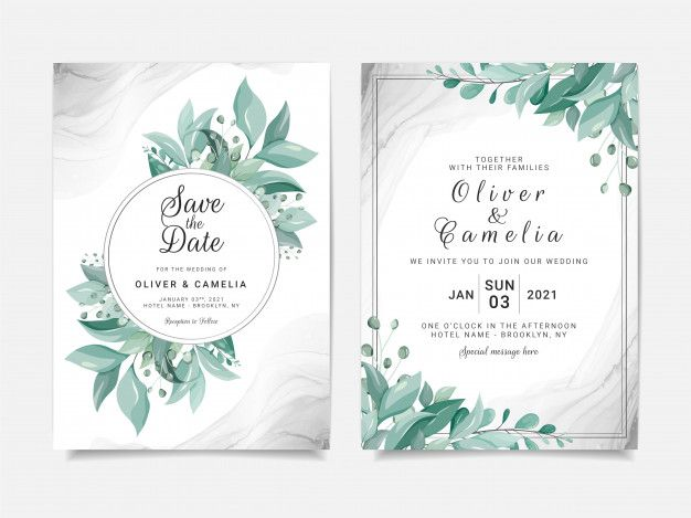 Elegant Wedding Invitation Card Template Set With Floral Frame And Silver Fluid Background Elegant Wedding Invitation Card Wedding Invitation Card Template Wedding Invitation Cards