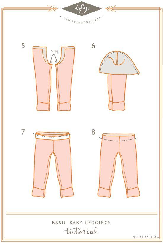 Baby Leggings Tutorial + Pattern | Tuto Couture enfant | Pinterest