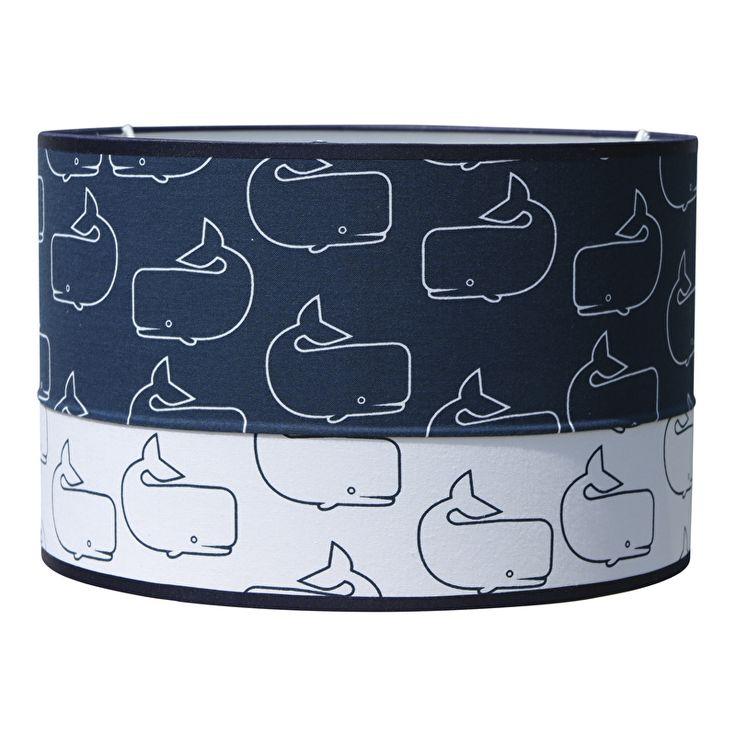 Lamp I whaley like you. Lamp met walvissen, uitgevoerd in een combinatie van donkerblauw en wit. Neutrale lamp die goed past in een babykamer of kinderkamer met een zee thema. Leuk om te combineren met de bijpassende wandlamp. Verkrijgbaar in drie verschillende maten.