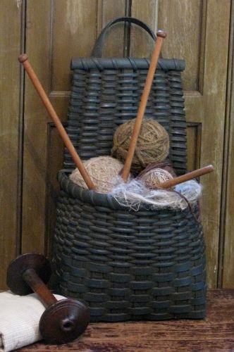 yarn, basket, needles, spool, oh my