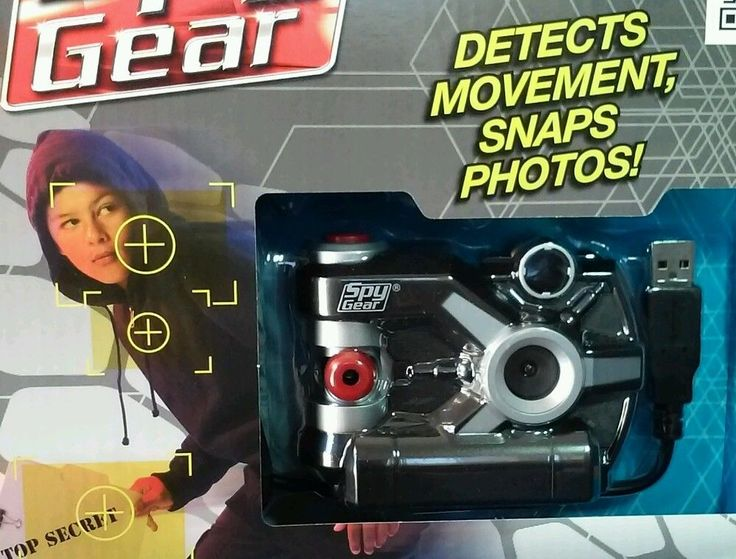Spy Gear Capture CAM Set Kids Motion Activated Camera Photo Editing Software USB #WildPlanet