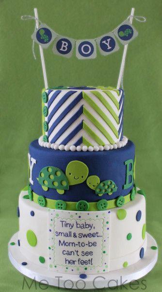 turtle baby shower cake baby boy shower