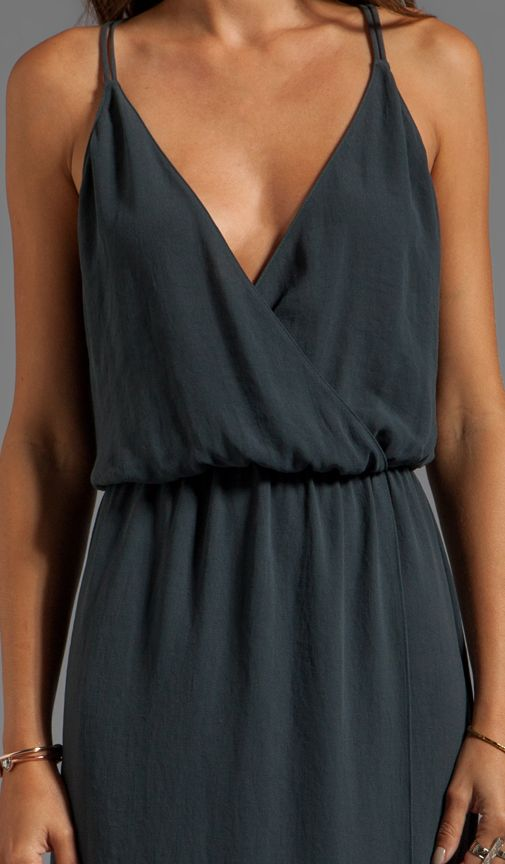 Rory Beca Minna Double Strap Gown in Cement | REVOLVE