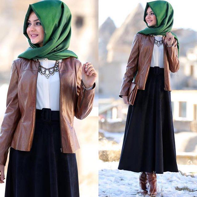 Pınar Şems deri ceket kombini