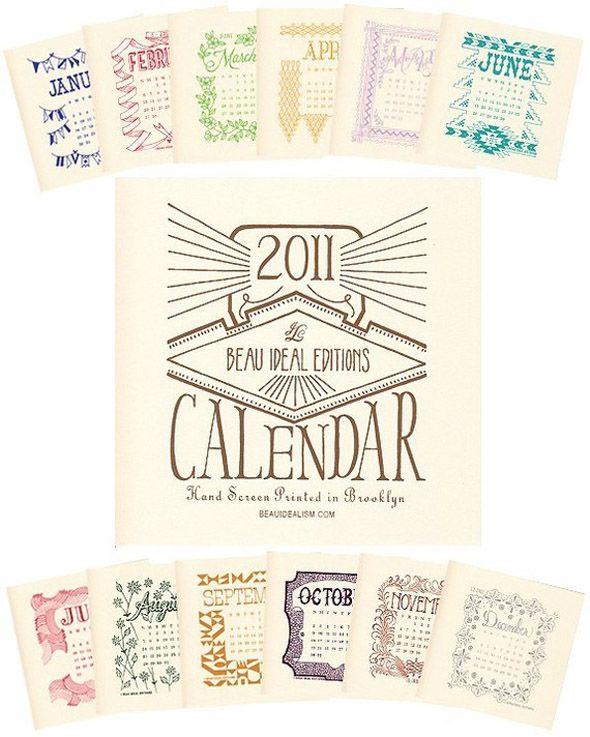 10 Calendarios creativos para el 2011 – Puerto Pixel | Recursos de Diseño