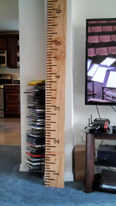 Ruler to measure kids height!