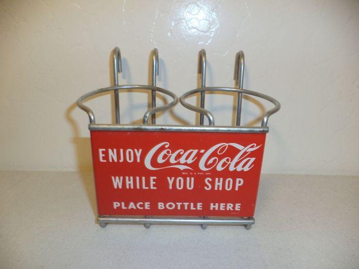 Vintage Original Coca Cola Shopping Cart Bottle Holder (FREE SHIPPING) #CocaCola