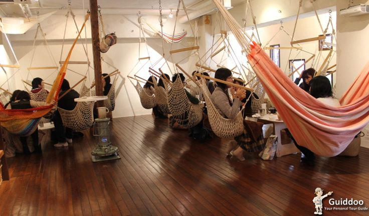 Unique Café Concepts around the Globe  A café in Tokyo, Japan called Mahika Mano has hammocks as seats. Yes, you heard us right. You can relax, lay back and sip your coffee, doze off if you will. It also has a hammock showroom along with it so that you can buy one if you grow too attached to it. And since this café is the way to go for relaxation, it gets quite crowded so remember to come in early to avoid a queue. Also in the peak hours customers are only allowed to use the café for two…