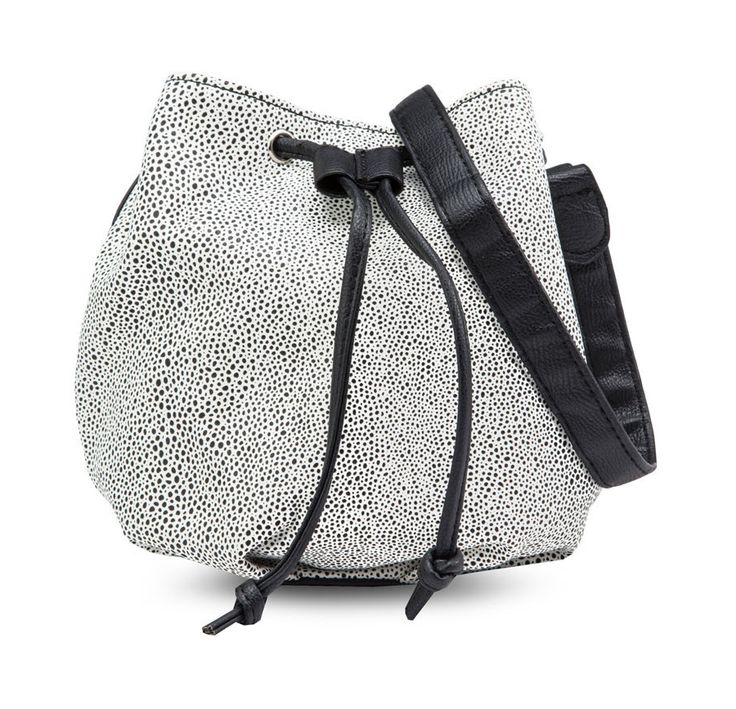 Nichols Shoulder Bag by Rubi. Completely chic and casual! Made from synthetic leather, with black and white color, synthetic leather strap, lined interior, inner pocket, adjustable strap, available in brown and black color.   http://www.zocko.com/z/JJ3As