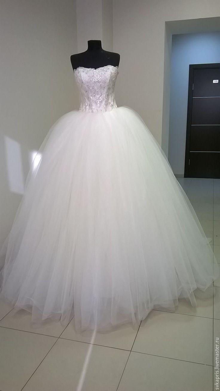 Купить Принцесса - белый, пышное платье, свадьба, свадебное платье, невеста, необычное платье, красный