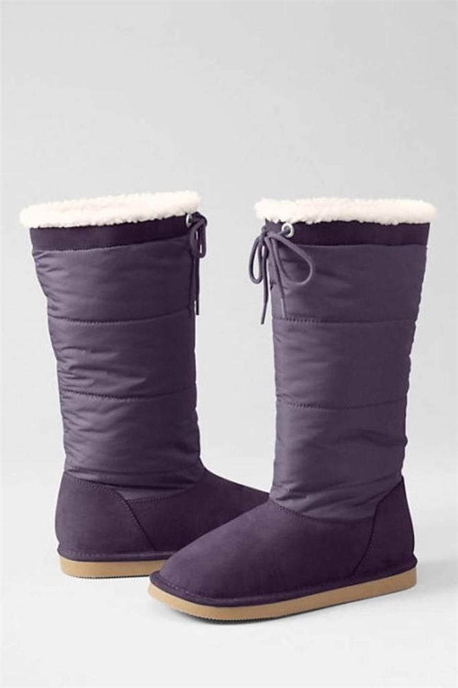 01eb5d40102 LANDS  END Size  9 Toddler Girl s NEW Shearling BOOTS 👢With Tie ...