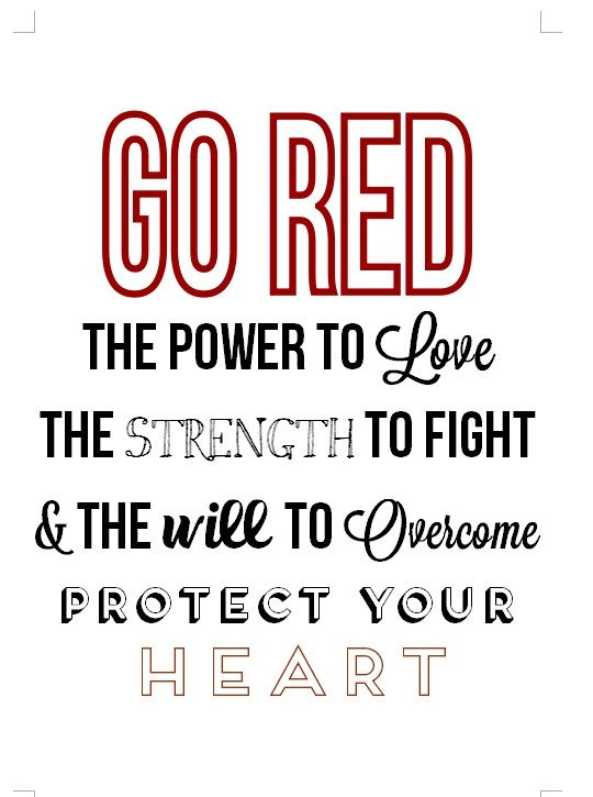 February Go Red; Heart Health Awareness Month