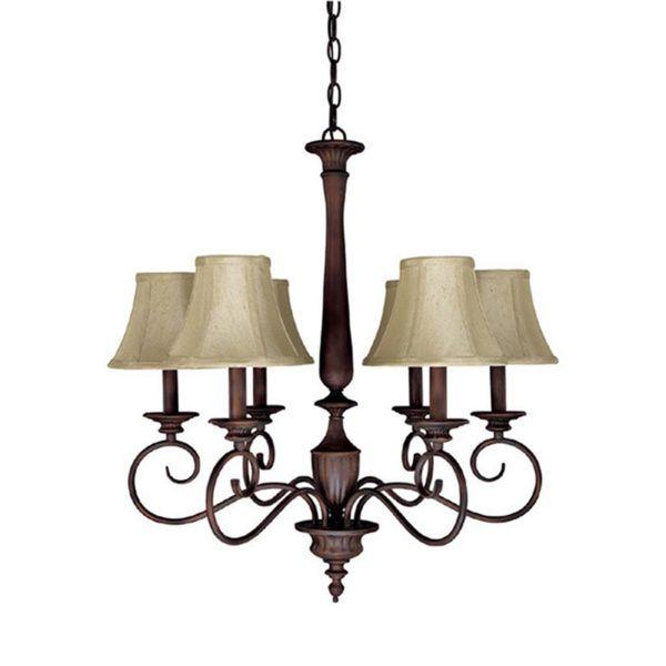 Capital Lighting Hammond Collection Mediterranean Bronze 6-light Chandelier