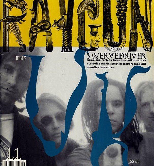 "David Carson (designer), Ray Gun cover #11 ""Swervedriver"", November 1993"