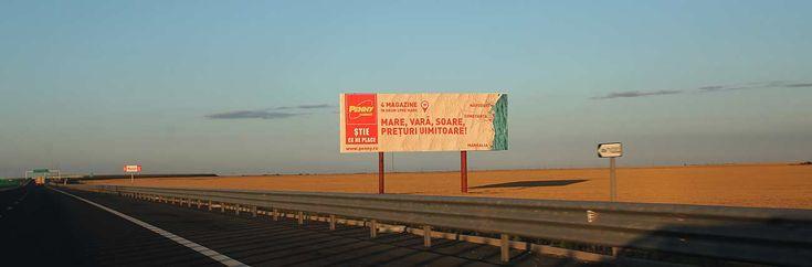 Locatii publicitare speciale pe Autostrada Soarelui - format 30x10m